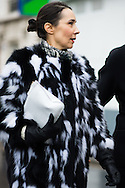 Black and White Fur Coat, Outside Dior Couture