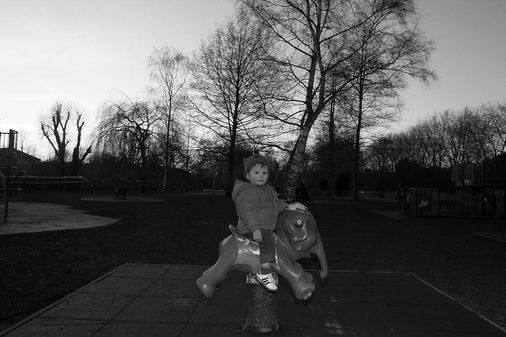 Joe plays at the local playground in Berkhamsted, England Tuesday, Feb. 17, 2015 (Elizabeth Dalziel) #thesecretlifeofmothers #bringinguptheboys #dailylife
