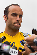 Soccer: LA Galaxy Landon Donovan media conference