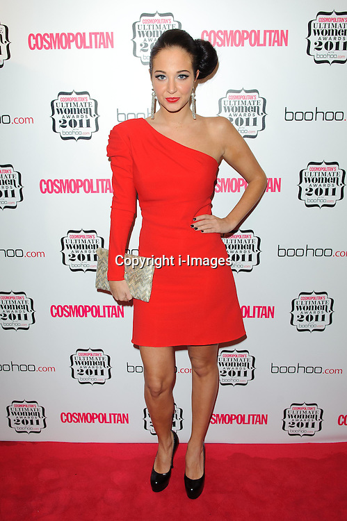 Tulisa Contostavlos at Cosmopolitan's Ultimate Women Awards 2011 in London, Thursday, November 3rd 2011. Photo by: i-Images<br /> File photo- Tulisa to be charged with supplying Class A drugs to undercover journalist. The charges result from a newspaper sting operation earlier this year, during which the singer and former X Factor judge allegedly helped the reporter buy cocaine.File Monday 9th December 2013.
