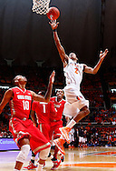 CHAMPAIGN, IL - JANUARY 05: Joseph Bertrand #2 of the Illinois Fighting Illini shoots the ball against the Ohio State Buckeyes at Assembly Hall on January 5, 2013 in Champaign, Illinois. (Photo by Michael Hickey/Getty Images) *** Local Caption *** Joseph Bertrand