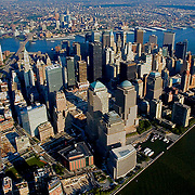 Aerial views of Manhattan