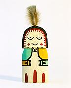 0197-1001 ~ Copyright: George H. H. Huey ~ Hopi Indian carved Katsina Grandmother, or Happy Mother. Kachina [aka Katsina] dolls/carvings represent spirits that are central to Hopi religion Artist: Lawrence Acadiz Arizona.