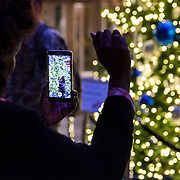 Christmas tree lighting in the Hemmingson Center on Nov. 29. (Photo by Edward Bell)