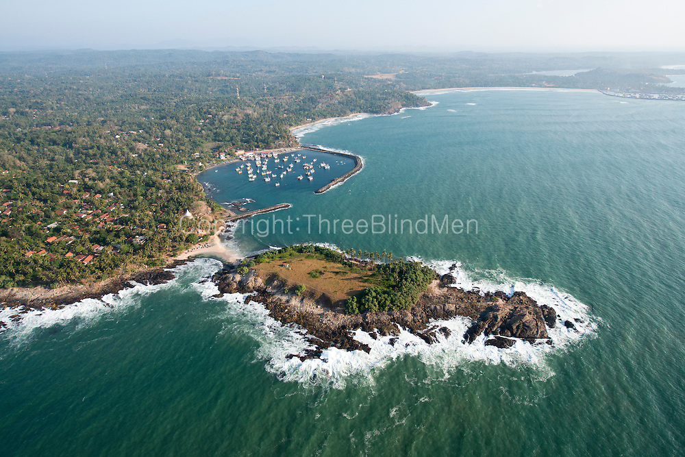 The Island from Above. Nilwella Fishing harbour.