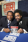 """TAVIS SMILEY HOSTS INTERVIEW SESSION AND AUTOGRAPH SIGNING WITH AMERICAN SCHOLAR DR.CORNEL WEST OF HIS NEW CD """" NEVER FORGET: A JOURNEY OF REVELATIONS,  AT J & R MUSIC WORLD"""