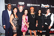 16 September : New York, NY- l to r: Tommy Walker, Sandra Guzman, Timothy Greenfeld-Sanders, Maria Hinojosa, Dr. Marta Moreno Vega, Catherine Pino, and Ingrid Duran at the HBO Latino screening of ' The Latino List ' on September 16, 2011 held at El Museo Del Barrio in New York City. Photo Credit: Terrence Jennings