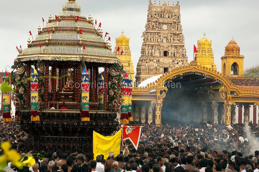 Chariot Festival at Nallur Kovil. Jaffna.