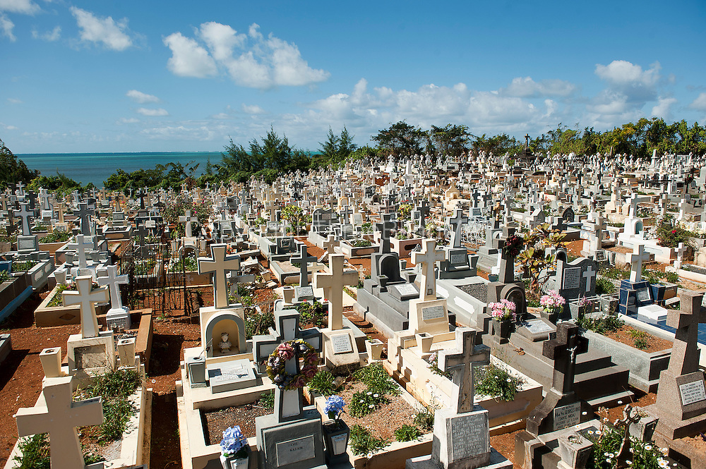 Mauritius. Christian cemetery at Mahebourg.