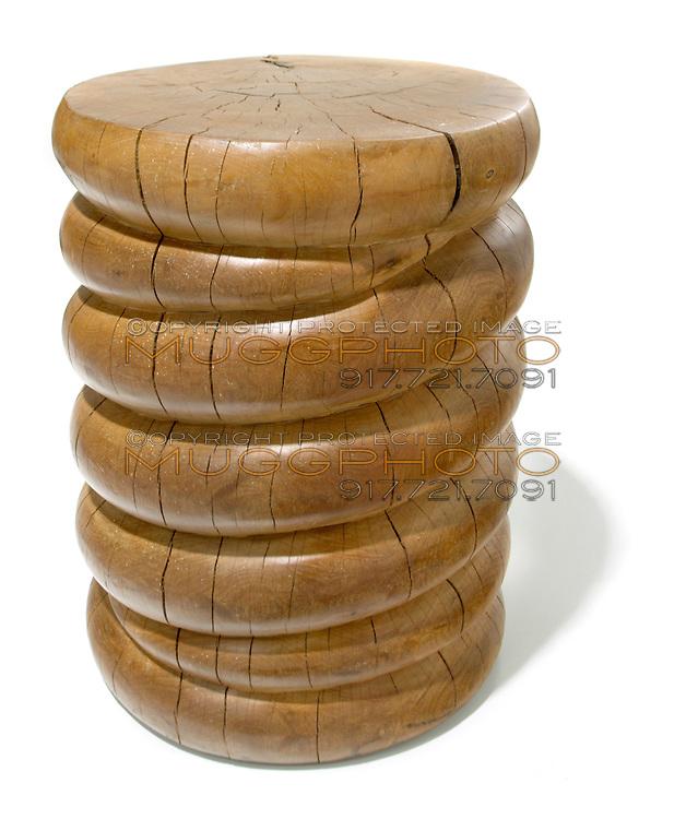 tree trunk wooden stool