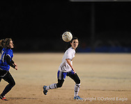 Oxford High's Meredith Sanford (14) vs. Saltillo in girls playoff soccer on Monday, February 1, 2010 in Oxford, Miss.