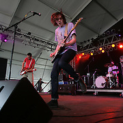 Tokyo Police Club, Canadian indie rock band from Newmarket, Ontario, consisting of singer and bassist Dave Monks, keyboardist Graham Wright, guitarist Josh Hook, and drummer Greg Alsop performs during the second day of the 2010 Bonnaroo Music & Arts Festival on June 10, 2010 in Manchester, Tennessee. The four-day music festival features a variety of musical acts, arts and comedians..Photo by Bryan Rinnert/3Sight Photography