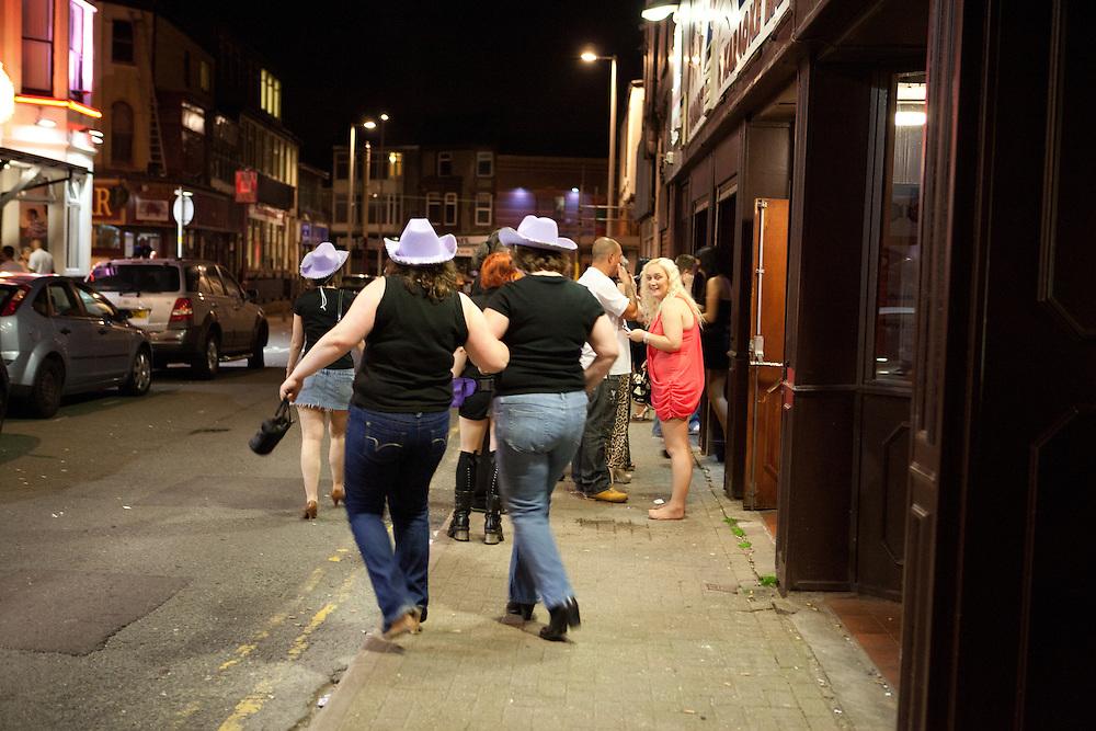 Hen parties in Blackpool, Lancashire, UK, July 2012