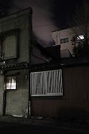 Night street scene in Kinchisho, Tokyo, Japan / Scene de nuit a Kinchisho, Tokyo, Japon