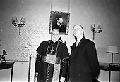 1967 - Cardinal John Cody arrives at Heuston Station and received by President de Valera