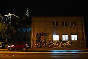 Street art on Karadjordjeva street.<br /> <br /> Savamala neighborhood of Belgrade, Serbia.
