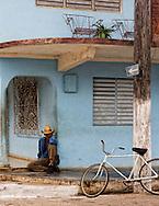Street corner in Moron, Ciego de Avila, Cuba.