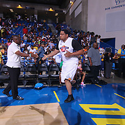 Wilmington firefighter Tim Perkins participates in The 2015 Duffy's Hope Celebrity Basketball Game Saturday, August 01, 2015, at The Bob Carpenter Sports Convocation Center, in Newark, DEL.    <br /> <br /> Proceeds will benefit The Non-Profit Organization Duffy's Hope Youth Programming.