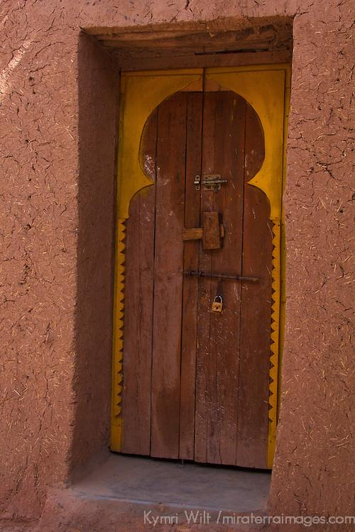 Africa, Morocco, Ourazazate. Ait Ben Haddou Door.
