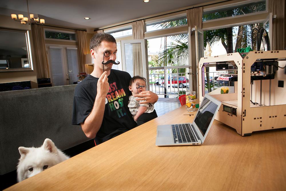 Josh Fat Finger Jones In His Santa Monica Ca Living Room David Neff Photography