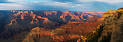 A panoramic view of the Grand Canyon.
