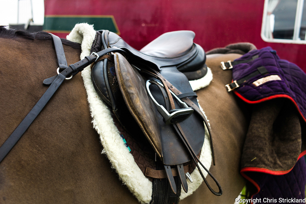 Probably the most hunted saddle in the world, belonging to Ailsa Tweedie, representing both the Jed & the Border.
