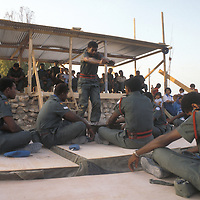 Fijian troops, part of the U.N. Forces in Lebanon, perform a tradiitonal kava ceremony for invietd dignitaries and local citizens in southern Lebanon in 1981.