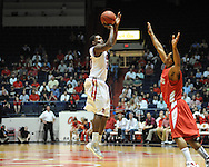 "Ole Miss' Nick Williams (20) in a National Invitational Tournament game at the C.M. ""Tad"" Smith Coliseum in Oxford, Miss. on Wednesday, March 14, 2012. Illinois State won 96-93 in overtime. (AP Photo/Oxford Eagle, Bruce Newman)"