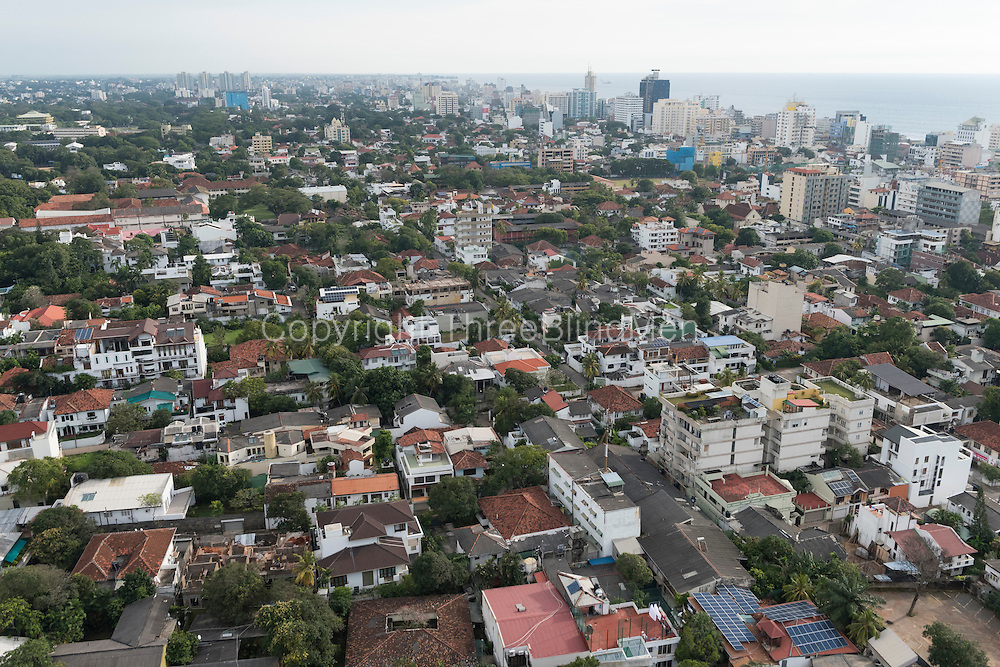 Colombo Skyline December 2014. Looking South from Cinnamon Red Hotel in Colombo 7
