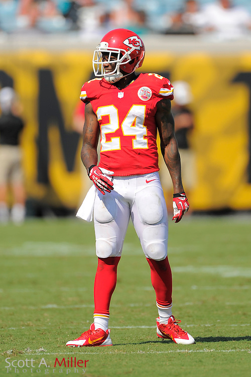 Kansas City Chiefs cornerback Brandon Flowers (24) during the Chiefs 28-2 win over the Jacksonville Jaguars at EverBank Field on Sept. 8, 2013 in Jacksonville, Florida. The <br /> <br /> &copy;2013 Scott A. Miller