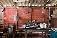 House kitchen in Vista Alegre near Unas, Holguin, Cuba.