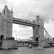 Tower Bridge North Tower Bank - London - Black & White