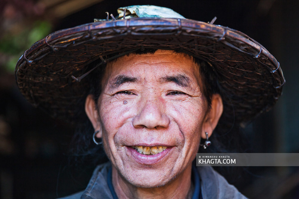 Portrait of a Mishmi Tribal from Hunli village of Arunachal in the Lower Dibang Valley