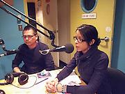 Jody Kechego, left, and Andrea Landry talk on CJAM University of Windsor radio about Idle No More and Anishwawbe rights.