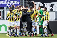 ROTTERDAM - Sparta - Vitesse , Voetbal , Eredivisie , Seizoen 2016/2017 , Het Kasteel , 11-12-2016 ,  eindstand 3-1 , eindstand 0-1 , Spelers van Vitesse maken een feestje