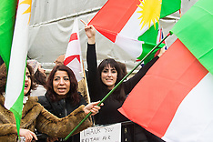 2015-12-06 Kurds demonstrate at Downing Street for further British support