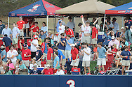 Ole Miss students celebrate a home run by Ole Miss' Preston Overbey(1) vs. Wright State at Oxford University Stadium in Oxford, Miss. on Saturday, February 19, 2011.