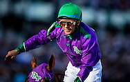 May 03, 2014: Victor Espinoza celebrates a victory aboard California Chrome after winning the 140th running of the Kentucky Derby at Churchill Downs Louisville Ky. Alex Evers/ESW/CSM