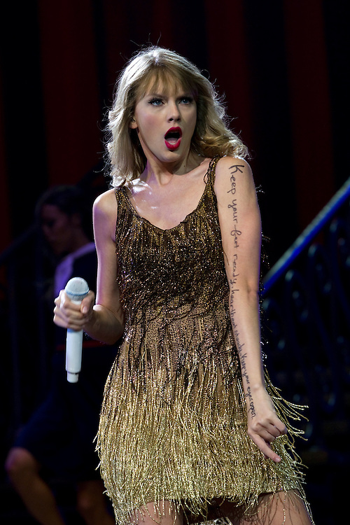 Taylor Swift performs live in concert, Vector Arena, Auckland, New Zealand, Friday, March 16, 2012  Credit:SNPA / David Rowland