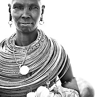 Samburu woman with child