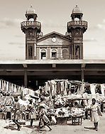 The Marché de Fer, Iron Market, built in 1891 in Port-au-Prince - originally designed to be railway station in Cairo.