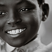 Portait of a young boy in Rugerero, a Genocide Survivors Village in Rwanda.