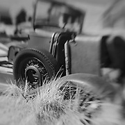 Abandoned Truck - Bodie, CA - Lensbaby - Black & White
