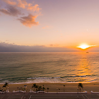 Sunrise over the ocean, Fort Lauderdale Beach, Florida