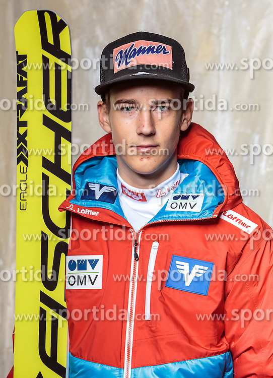 08.10.2016, Olympia Eisstadion, Innsbruck, AUT, OeSV Einkleidung Winterkollektion, Portraits 2016, im Bild Mika Schwann, Skisprung, Herren // during the Outfitting of the Ski Austria Winter Collection and official Portrait Photoshooting at the Olympia Eisstadion in Innsbruck, Austria on 2016/10/08. EXPA Pictures © 2016, PhotoCredit: EXPA/ JFK