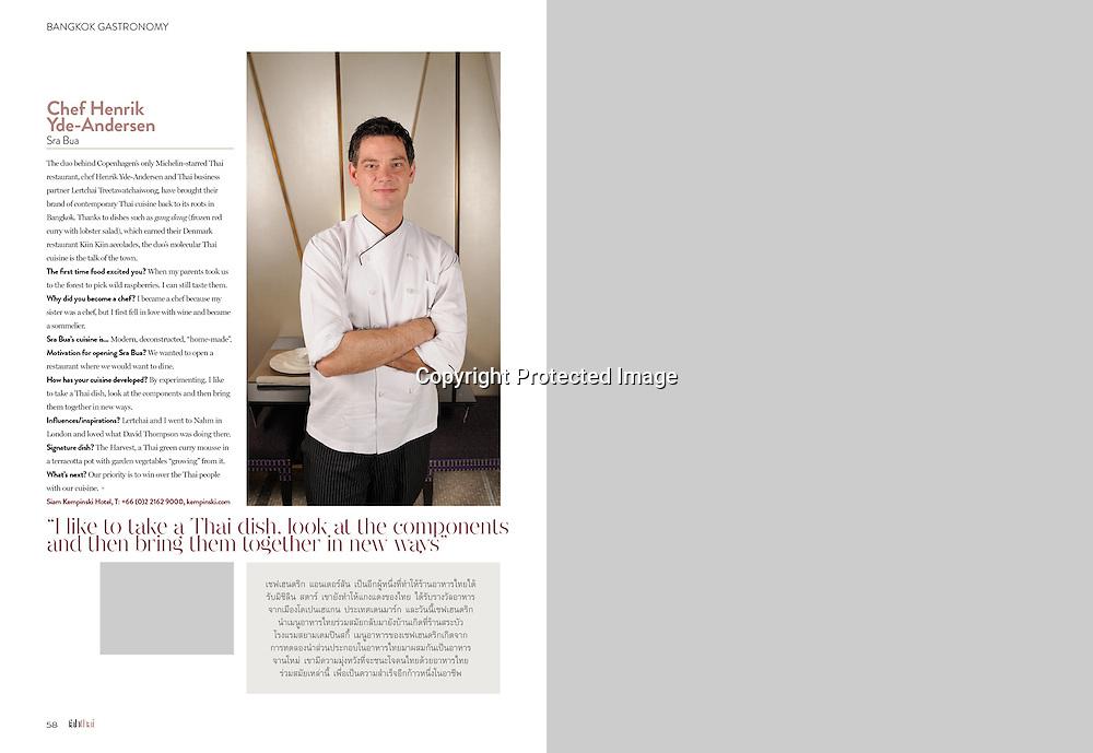 Fah Thai Magazine (Bangkok Airways) feature on Bangkok's best chefs and restauranteurs.