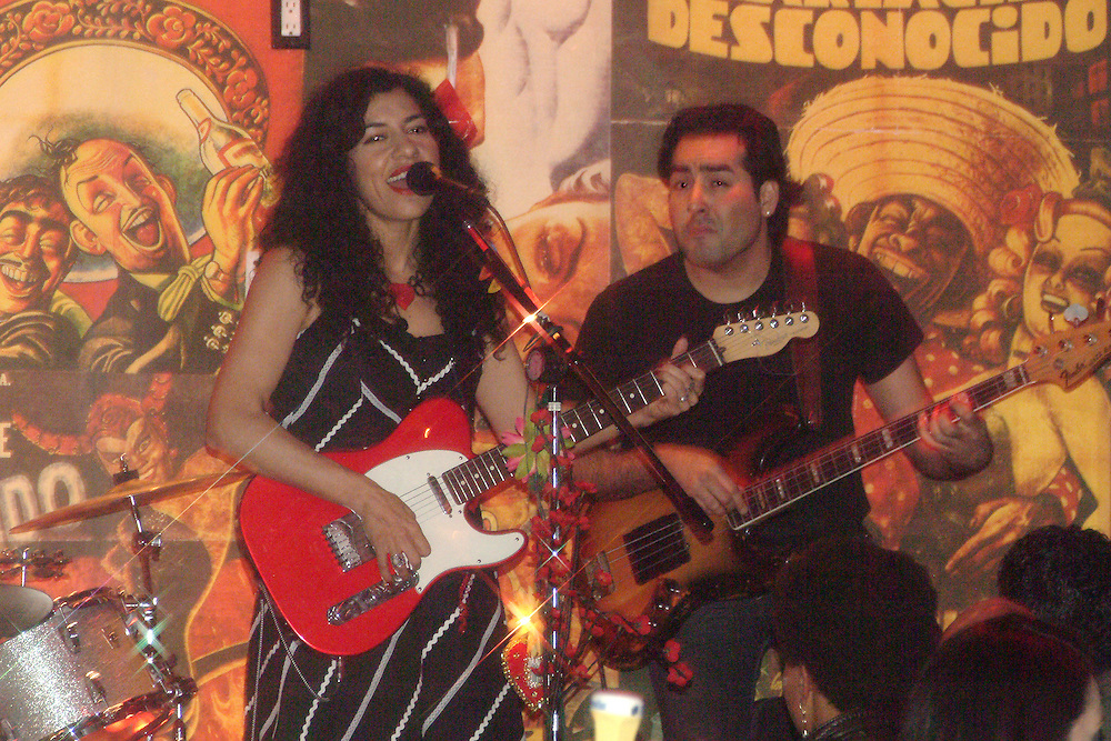Lysa Flores playing at East Side Luv in Los Angeles, CA 2/1/2008. ..
