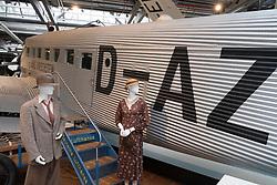 Junkers Ju 52 on display at Deutsches Technikmuseum, German Museum of Technology, in Berlin, Germany