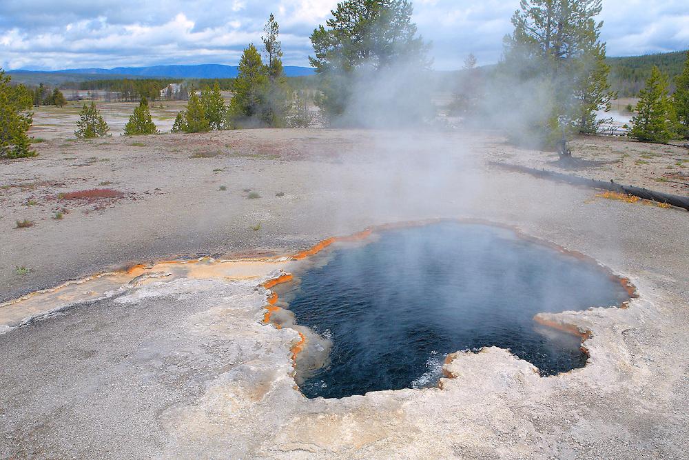 Dark Bottom Geyser Pool - Yellowstone National Park