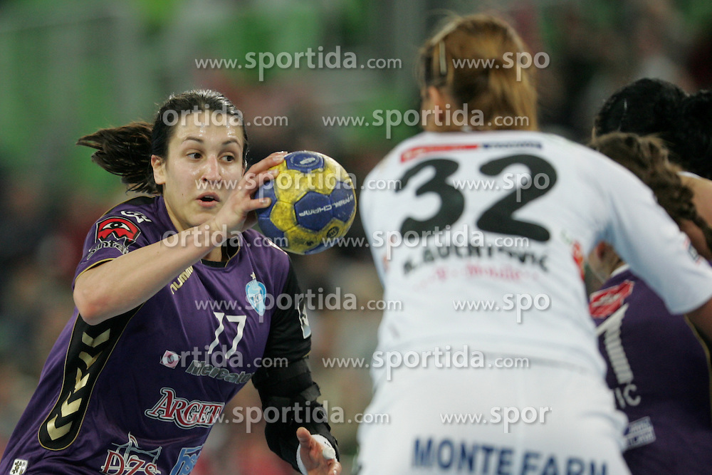 Andrea Lekic of Krim during handball match between RK Krim Mercator (SLO) and Buducnost (CRG) of 4th Round of Women's Champions League on March 4, 2011 in Arena Stozice, Ljubljana, Slovenia. Buducnost defeated Krim 40 - 36. (Photo by Urban Urbanc / Sportida.com)